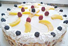 Könnyű barackos torta
