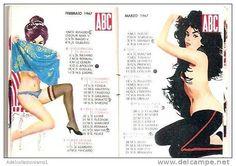 calendario del tipo in uso dai barbieri anno 1967