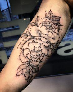 Peony tattoo