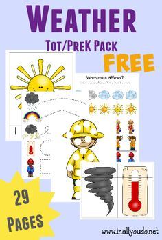 Free Weather Tot and PreK/K Pack from In All You Do
