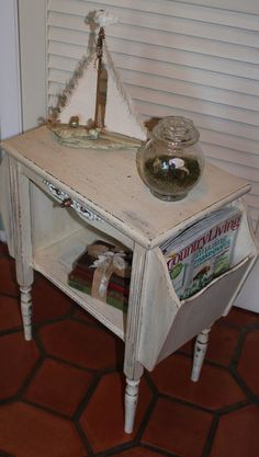 Vintage Shabby Chic Magazine Table 1940s