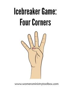 Icebreaker: Four Corners - Fun, active game for your next women's ministry event!