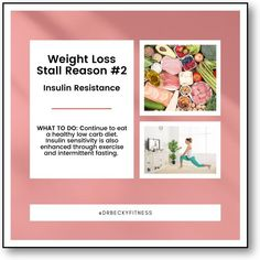 """""""The good news is that your cells can become more insulin sensitive over time as you continue to eat a healthy low carb diet. Insulin sensitivity is also enhanced through exercise and intermittent fasting..."""" Weight Loss Goals, Healthy Weight Loss, Insulin Resistance, Low Carb Diet, What You Can Do, Intermittent Fasting, Superfoods, Exercise, Sensitivity"""
