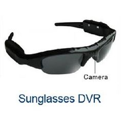 Hammacher Schlemmer video sunglasses are built to record your surroundings with a built-in megapixel tiny video camera located at the centre of the glasses frame. Spy Camera, Camera Gear, Sports Sunglasses, Ray Ban Sunglasses, Spy Glasses, Cctv Surveillance, Surveillance Equipment, Miu Miu Heels, Spy Gear