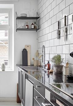 A home in beige and grey - via Coco Lapine Design blog