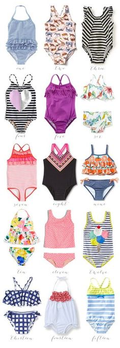 little style // swimsuits for girls! Affordable Swimsuits for Girls Affordable Swimsuits, Affordable Clothes, Baby Swimsuit, Girls Swimming, Kids Swimwear, Moda Fitness, Fashion Kids, Kind Mode, Bathing Suits
