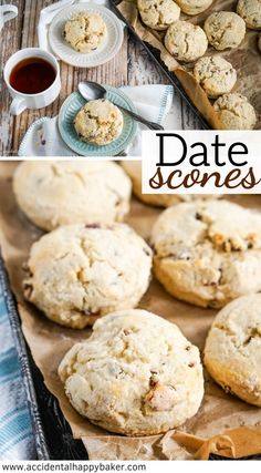 Tender date scones are lightly sweet with a hint of cinnamon. The natural sweetness of the dates as they bake practically melt into brown sugary sweet spots of goodness inside each Best Breakfast Recipes, Quick And Easy Breakfast, Sweet Breakfast, Brunch Recipes, Sweet Recipes, Waffle Recipes, Dessert Recipes, Breakfast Pastries, Brunch Ideas