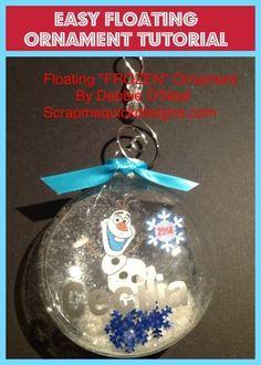 Easy Floating Ornament Tutorial