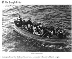 Not enough life boats on the Titanic. But also were not filled up to near capacity