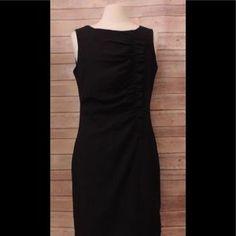 I just added this to my closet on Poshmark: CALVIN KLEIN Size 12 Black Sheath Dress Ruffled. Price: $40 Size: 12