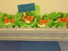 Homespun With Love: Food Craft Idea: Vegetable Patch