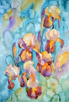 Something different than usual.  Rainy irises, 36 x 53,5 cm, Fabriano Artistico 140 lb (300g/m2). https://www.facebook.com/KrzysztofKowalskiWatercolorist