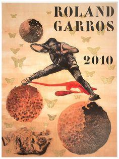 Nalini Malani (Indian, b. 1946), Roland Garros, 2010, offset lithograph, signed, ed. 120