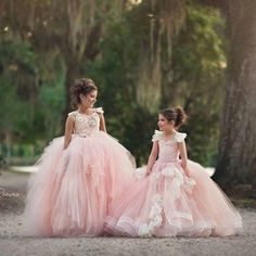 Celeste and Emma Gowns by Anna Triant Couture Couture flower girl and special occasion dresses Little Girl Gowns, Gowns For Girls, Vintage Bridal, Bridal Lace, Rapunzel, Camila, Princess Wedding, Special Occasion Dresses, Formal Dresses