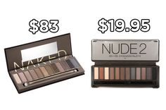 Get the BYS Nude 2 Eyeshadow Tin instead of Urban Decay's Naked Palette to save $63. | 20 Holy Grail Makeup Dupes That Are Actually Available In Australia