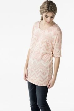 Chandail dolman à motif rose doux - Vêtements