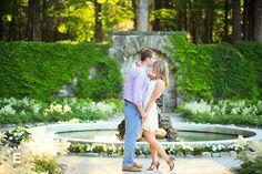 Forehead kisses! #elariophotography The Mount Lenox Engagement Photos | Jenny & Josh