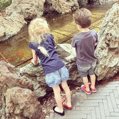 No trip to Westmead children's hospital is complete without a visit to the fish pond. Isla looking particularly stylish in mismatched (both left) shoes! #hopeforislaandjude by hopeforislaandjude