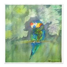 parrot Shower Curtain...like bathing in a tropical rain forest...