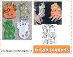 ESL/EFL Preschool Teachers: finger puppets