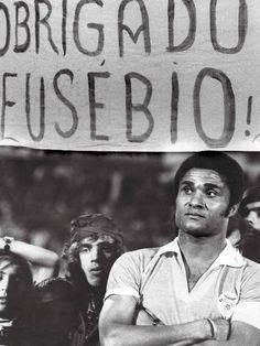 Eusébio da Silva Ferreira  614 jogos 638 golos  35 troféus  2 botas de ouro 1 bola de ouro #EusébioNoPanteão