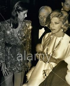At the Lido in Paris with Baron Guy de Rothschild and his wife / 24. April 1979
