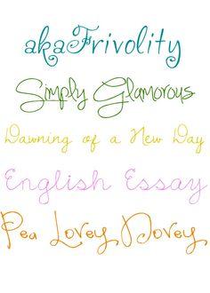 English essay font