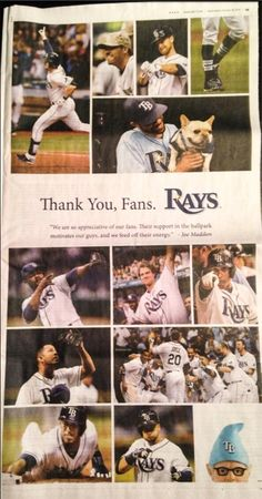 Tampa Bay Rays - Full-page ad from #Rays in today's @TB_Times pic.twitter.com/Uq4MhfPbs1