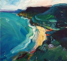 Meanwhile, back on the south coast. Landscape Art, Landscape Paintings, Sea Paintings, Landscapes, Painting Inspiration, Art Inspo, Costa, Water Art, Impressionist Art