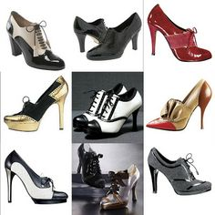 Adorable collection of Spectator Shoes! Harlem Renaissance Fashion, Renaissance Clothing, Harlem Nights Theme Party, Spectator Shoes, Flapper Style, Wellington Boot, Party Fashion, Me Too Shoes, Top Shoes