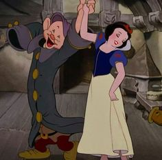 *DOPEY & SNOW WHITE ~ Snow White and the Seven Dwarf's, 1937