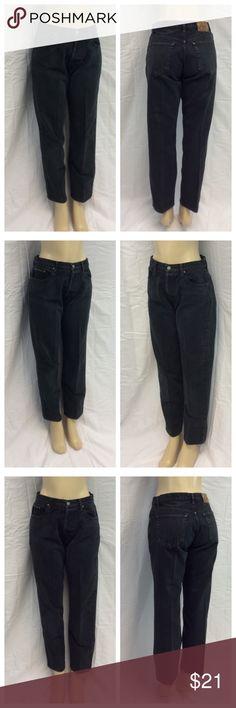 "CALVIN KLEIN LADIES BLACK JEANS CALVIN KLEIN LADIES BLACK JEANS, Button downs, slightly distressed, Size 9, 100% cotton, machine wash. Approximate measurements are 16"" waist laying flat, 38 1/2"" waist to hem, 29 1/2"" inseam, 11 1/2"" waist to crotch. 0427 Calvin Klein Jeans Pants"