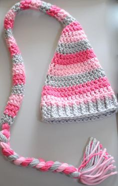 Elf+Hat+with+Super+Long+Braided+Tail+by+AandNAccessories+on+Etsy,+$25.00
