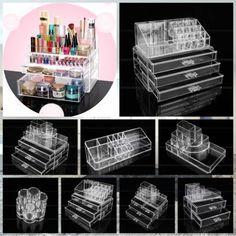 9Typ-Kosmetik-Organizer-Make-Up-Aufbewahrung-Staender-Schubladen-Box-Praesentation