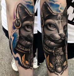 Egyptian Bastet Tattoo