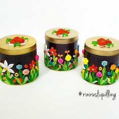 PROMOTED Quilling Craft, Quilling Flowers, Paper Quilling, Bottle Art, Bottle Crafts, Bird Applique, Paper Roll Crafts, Arts And Crafts, Diy Crafts