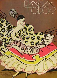 Forgotten Art Deco Marvels of a Lost Copacabana Magazine Art Deco Illustration, Floral Illustrations, Vintage Posters, Vintage Art, Vintage Ephemera, Art Nouveau, Inspiration Art, Magazine Art, Magazine Covers