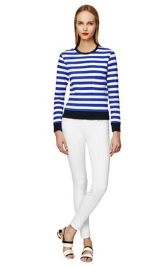 Shop Lan Sweater With Stripes by Golden Goose Now Available on Moda Operandi
