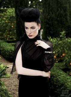 Black veil. Dita, you are delish.