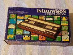 Vintage Mattel Intellivision Box Console Video Game Controllers System Original #Mattel