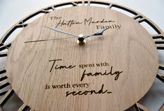 Personalised Surname Family Quote Clock