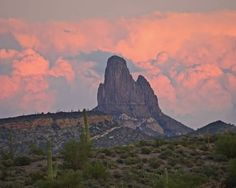 Weaver's Needle, located in the Superstition Mountain Range.
