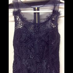 Leifsdottir Black Spanish Lace Bustier Black, never worn (just to try on), mesh, lace, exposed zipper. Basically it's new...so price is firm. Anthropologie Tops Camisoles
