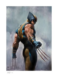 Wolverine Fine Art Print by Adi Granov   Sideshow Fine Art Prints Logan Wolverine, Wolverine Comics, Ms Marvel, Marvel Art, Marvel Heroes, X Men, Comic Books Art, Comic Art, Adi Granov