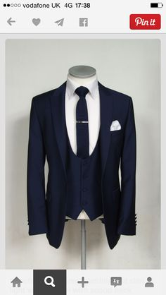 Navy Blue Groom Tuxedos Wedding Men Suits Formal Best Man Party Business Suit for sale online Groom Wear, Groom Outfit, Groom Attire, Groom Suits, Navy Blue Groom, Navy Blue Suit, Navy Blue Tuxedos, Blue Suit Men, Men's Blue Suits