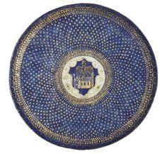 A PARCEL-GILT POLYCHROME CIRCULAR ENAMEL DISH - VENETIAN, CIRCA 1500