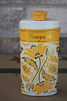 Avon Perfumed Talc Powder. Honeysuckle - My favorite fragrance from Avon, still love it from Bath and Body, too.  Nana