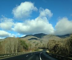 The Blue Ridge Mountains near Asheville, NC, December 2013.