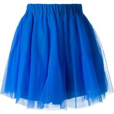P.A.R.O.S.H. Tulle Skirt ($173) ❤ liked on Polyvore featuring skirts, blue, p.a.r.o.s.h., knee length tulle skirt, blue skirt, royal blue skirt and tulle skirt