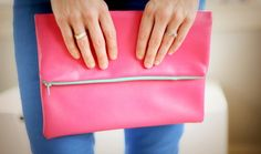 40 DIY Leather Projects We Love- Want to make the fold over clutch
